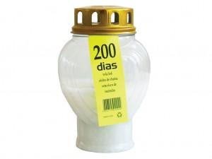 Vela branca Coração LED 200 dias